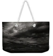 A Dark Moody Storm Weekender Tote Bag by John Norman Stewart