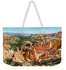 Weekender Tote Bag featuring the photograph A Day In Bryce Canyon by Margaret Pitcher