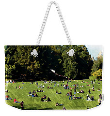 A Day In Central Park, Ny Weekender Tote Bag by Marcia Lee Jones