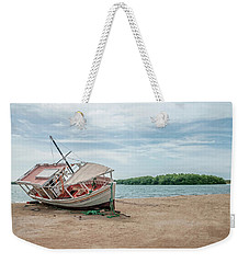 A Day Of Fishing Aground Weekender Tote Bag