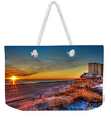 A December Beach Sunset Weekender Tote Bag