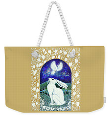 Weekender Tote Bag featuring the painting A Deep Thought by Lise Winne