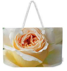 A Delicate Rose In Peach Weekender Tote Bag