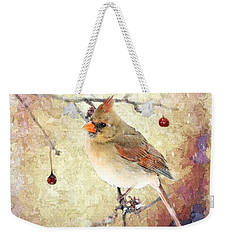 Weekender Tote Bag featuring the photograph A Delicate Thing by Betty LaRue