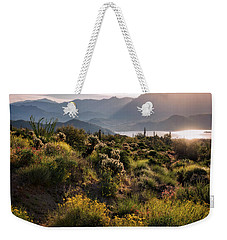 Weekender Tote Bag featuring the photograph A Desert Spring Morning  by Saija Lehtonen