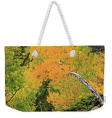 Yellow Drop Weekender Tote Bag