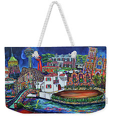 Weekender Tote Bag featuring the painting A Dos Xx Kinda Night by Patti Schermerhorn