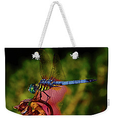 Weekender Tote Bag featuring the photograph A Dragonfly 028 by George Bostian