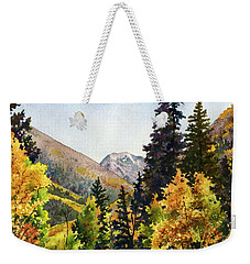 A Drive In The Mountains Weekender Tote Bag by Anne Gifford