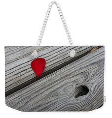 Weekender Tote Bag featuring the photograph A Drop Of Color by Robert Knight