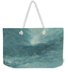 Weekender Tote Bag featuring the painting A Drop Of Golden Sun by Jane See