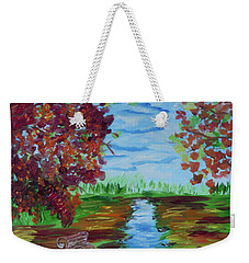 A Fall Day Weekender Tote Bag by Donna Brown