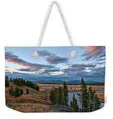 A Fall Evening In Hayden Valley Weekender Tote Bag by Steve Stuller