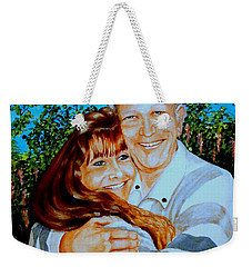 A Father And Daughter Weekender Tote Bag