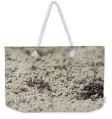 A Fiddler Crab In The Sand Weekender Tote Bag