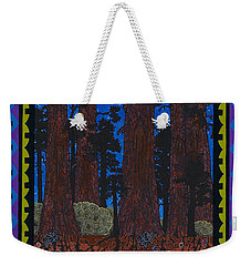 Weekender Tote Bag featuring the painting A Forest Whispers by Chholing Taha