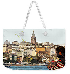 A Fisherman In Istanbul Weekender Tote Bag