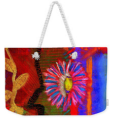 A Flower For You Weekender Tote Bag by Angela L Walker
