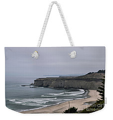 A Foggy Day On Hwy 1 Weekender Tote Bag
