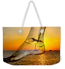 A Foot In The Sunset Weekender Tote Bag