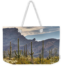 A Forest Of Saguaro Cacti Weekender Tote Bag by Vivian Christopher