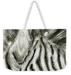 Weekender Tote Bag featuring the digital art A Friend For Lunch Two by Darren Cannell