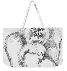 A Friendly Gorilla Weekender Tote Bag by John Keaton