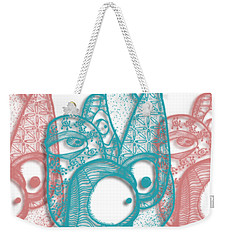 Weekender Tote Bag featuring the drawing A Gathering by Uncle J's Monsters