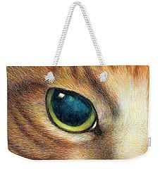 A Ginger Cat Face Weekender Tote Bag