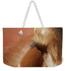 A Giraffe Da Weekender Tote Bag by Ernie Echols