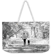 A Girl And Her Dog Weekender Tote Bag