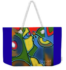 Weekender Tote Bag featuring the digital art A Girl And The Dove by Latha Gokuldas Panicker
