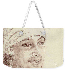 A Girl In A Scarf Weekender Tote Bag