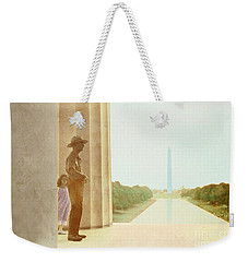 A Girl Suddenly Appears Weekender Tote Bag