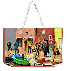 A Glamour Shoot In Burano Weekender Tote Bag