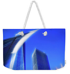 A Glimpse Of The Oculus - New York's Financial District Weekender Tote Bag