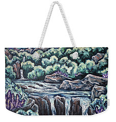 Weekender Tote Bag featuring the painting A Glimpse Of Time by Cheryl Pettigrew