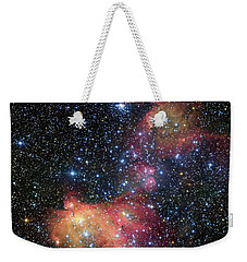 Weekender Tote Bag featuring the photograph A Glowing Gas Cloud In The Large Magellanic Cloud by Eso