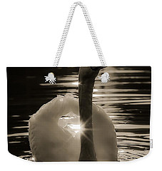 Weekender Tote Bag featuring the photograph A Golden Moment by Rose-Maries Pictures
