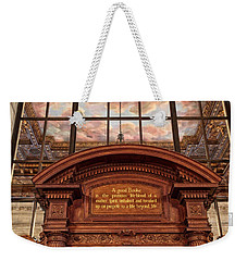 Weekender Tote Bag featuring the photograph A Good Book by Jessica Jenney