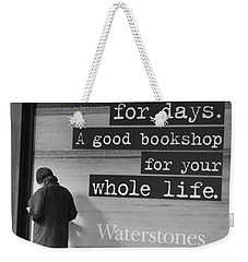 A Good Book Weekender Tote Bag