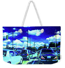 A Good Day Weekender Tote Bag by Bonnie Lambert
