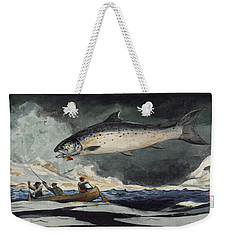 A Good Pool. Saguenay River Weekender Tote Bag by Winslow Homer