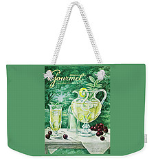 A Gourmet Cover Of Glassware Weekender Tote Bag by Hilary Knight