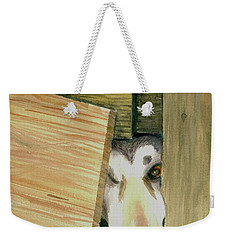 Weekender Tote Bag featuring the painting A Great Escape  -variation 2 by Yoshiko Mishina