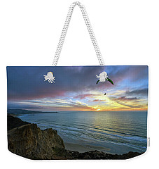 A Hang Glider And A Sunset Weekender Tote Bag