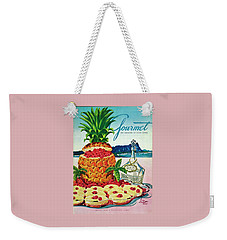 A Hawaiian Scene With Pineapple Slices Weekender Tote Bag