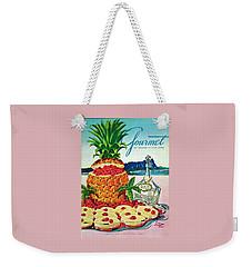A Hawaiian Scene With Pineapple Slices Weekender Tote Bag