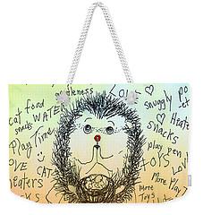 A Hedgehog Thanksgiving Weekender Tote Bag