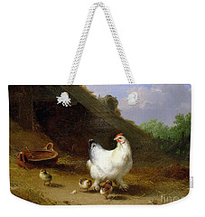 A Hen With Her Chicks Weekender Tote Bag